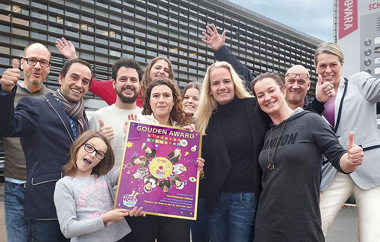 kinderen voor kinderen gouden award 2015 reclamebureau holland