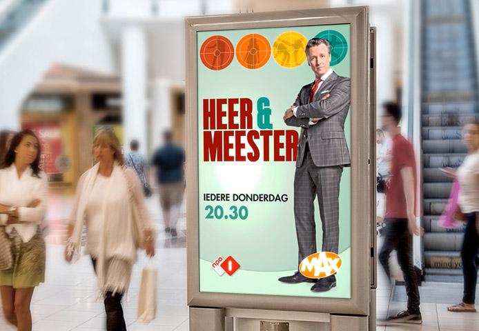 Levendige Billboard Heer en Meester Reclamebureau Holland