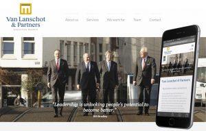 website van lanschot en partners reclamebureau holland