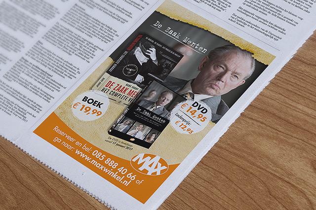 zaak van menten flyer ontwerp reclamebureau holland