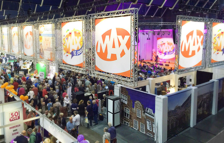 MAX 50 PLUS Beurs Reclamebureau Holland