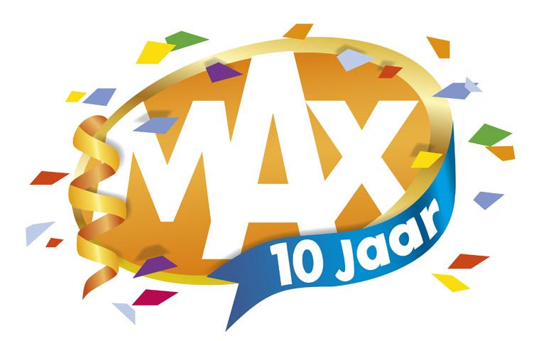 logo MAX 10 Jaar ontwerp Reclamebureau Holland